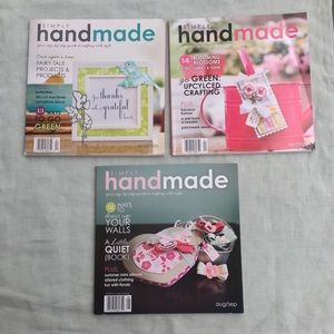 3 issues Simply Handmade crafting magazines
